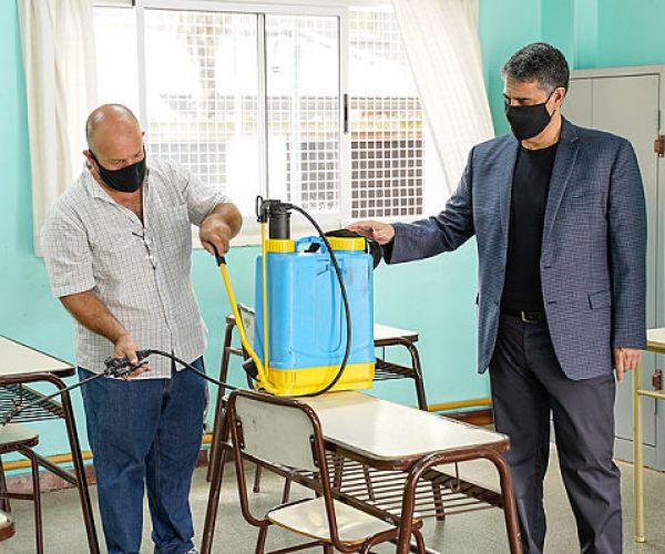 Vicente López está preparado con los protocolos para volver a clases
